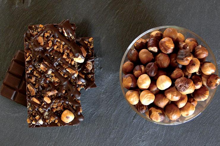 Malakoffs aux éclats de caramel, noisettes et amandes