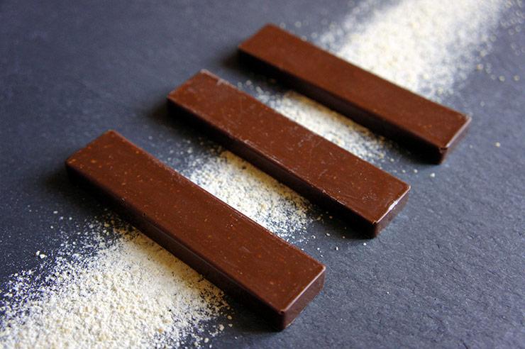 Barres chocolat-caramel