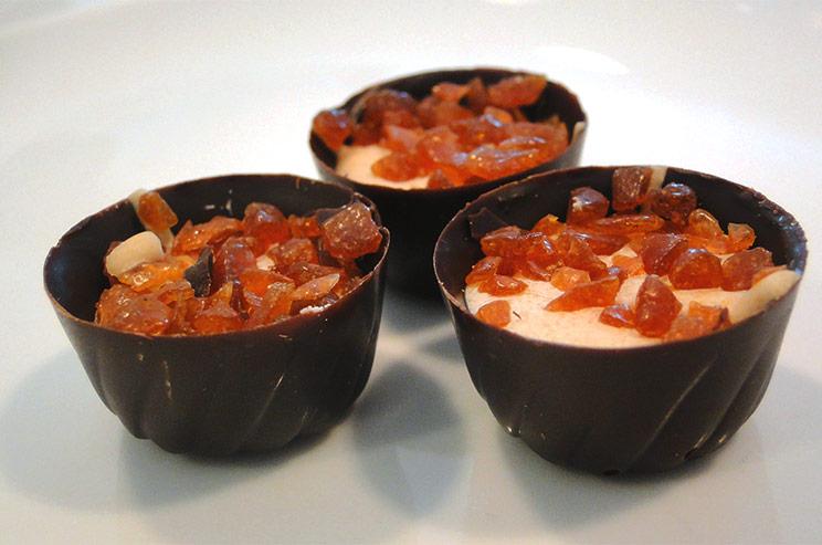 """Crème brûlée"" bites"