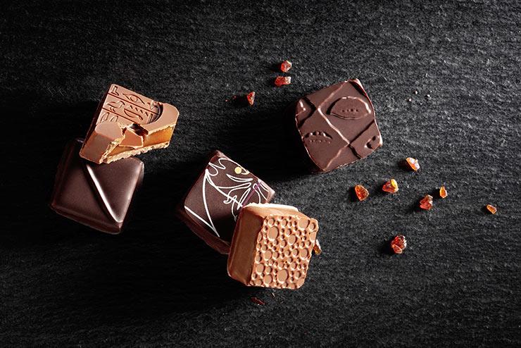 Chocolats fourrage caramel au beurre salé