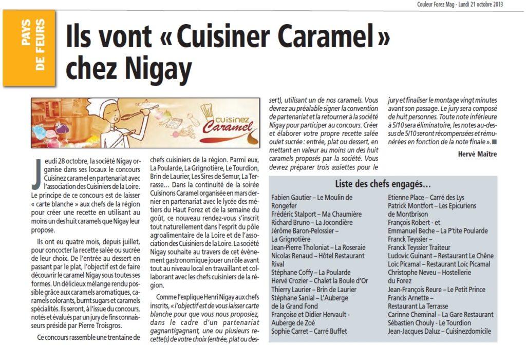Article Couleur Forez Mag Cuisinez Caramel