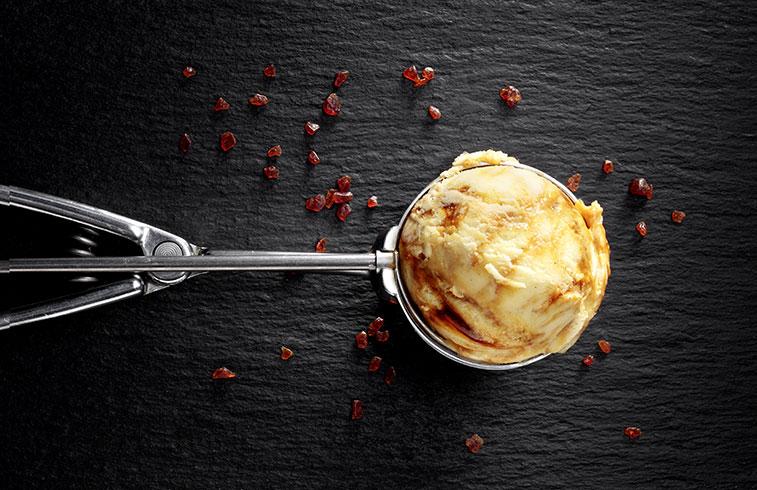 Salted butter caramel swirl ice cream
