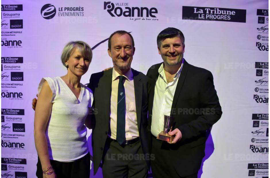 Olivier Boizet, son épouse et Henri Nigay (au centre)